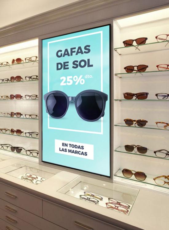 Canal Opti·k IN Canal Opti·k IN Gimage Pantalla interior LED LCD Totem óptica, tienda gafas,  comunicación digital contenidos publicidad