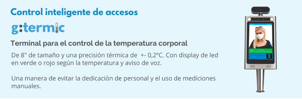 g:termic pantalla para el control de la temperatura corporal